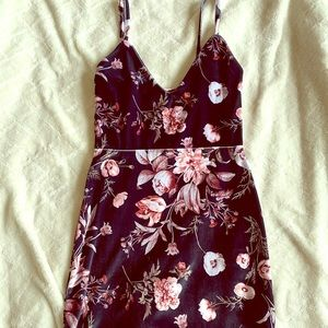 Nasty Gal - Velvet Floral Dress - Size 2